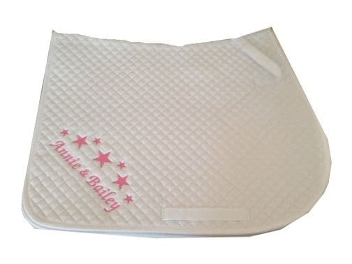 Personalised White GP Saddlecloth