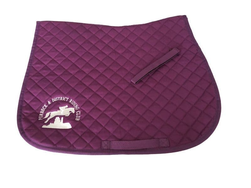 PURBECK DISTRICT RIDING CLUB Purple Saddlecloth