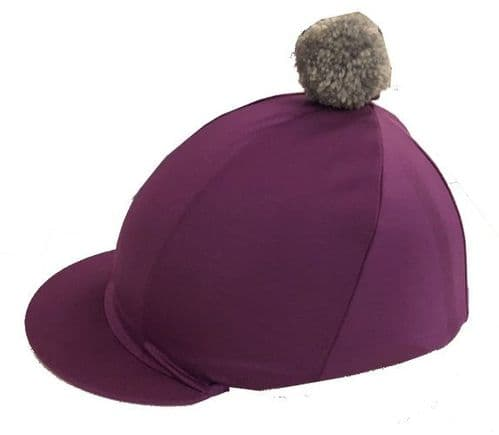PURBECK DISTRICT RIDING CLUB Purple silk with silver pompom