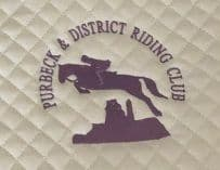 PURBECK DISTRICT RIDING CLUB white Close Contact Saddlecloths