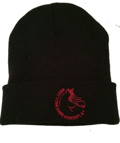 West Yorkshire Horse Play Black  Beanie