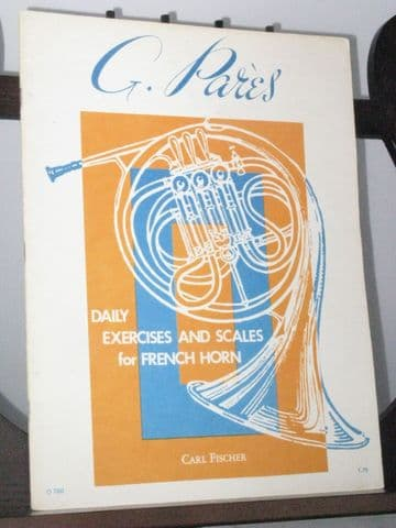 Pares G - Daily Exercises and Scales  for French Horn