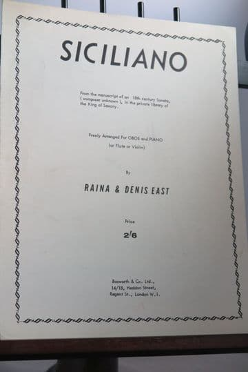 Anonymous - Siciliano for Oboe & Piano arr East R 7 East D