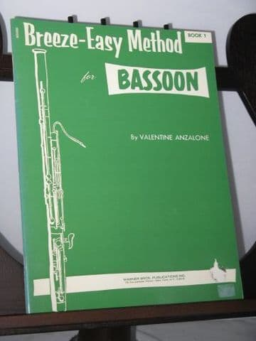 Anzalone V - Breeze-Easy Method for Bassoon Book 1