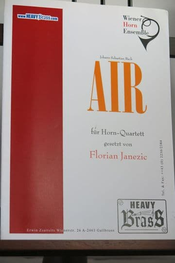 Bach J S - Air from Orchestral Suite No 3 for Horn Quartet arr Janezic F