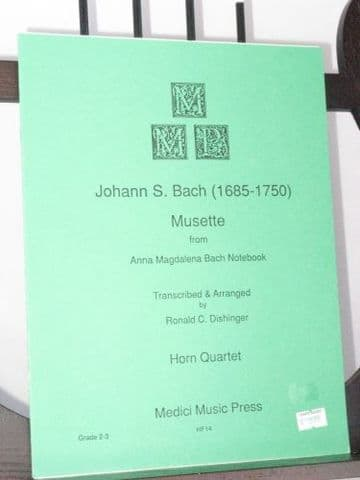 Bach J S - Musette from Anna Magdalena Bach Notebook arr Dishinger R C