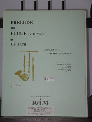 Bach J S - Prelude & Fugue in D Major arr Cantrell B