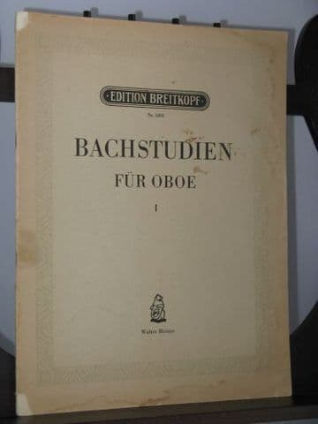 Bach J S - Studies for Oboe Vol 1 ed Heinze W