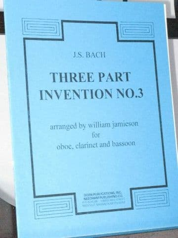 Bach J S - Three Part Invention No 3 arr Jamieson W