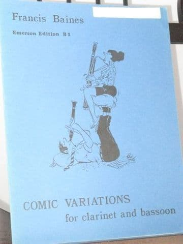 Baines F - Comic Variations for Clarinet and Bassoon
