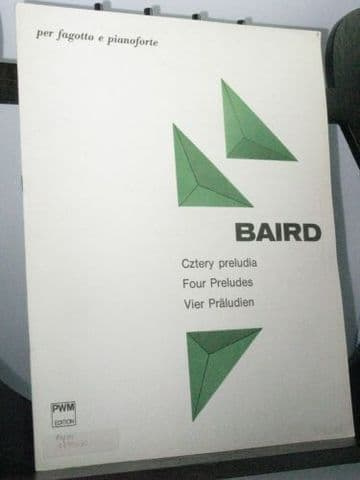 Baird T - Four Preludes for Bassoon & Piano