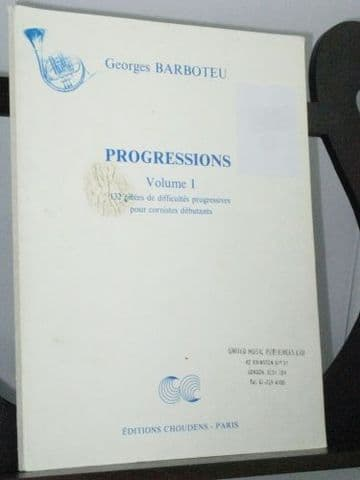 Barboteu G - Progressions Vol 1