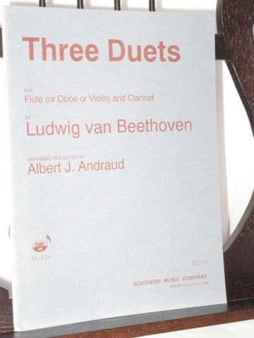 Beethoven L van - Three Duets arr Andraud A J