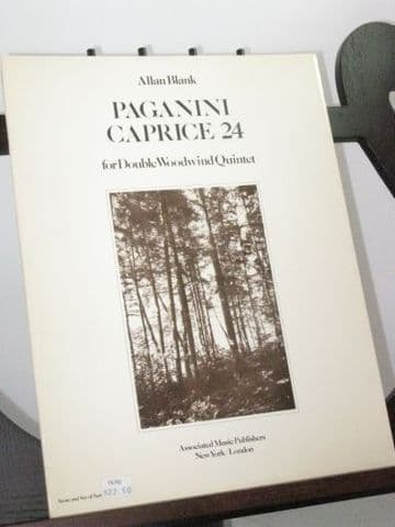 Blank A - Paganini Caprice 24 for Double Woodwind Quartet
