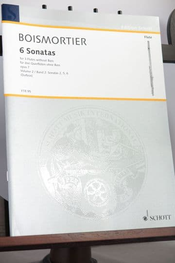 Boismortier J B de - 6 Sonatas Op 7 for 3 Flutes without Bass Vol 2 Nos 2, 5, 6