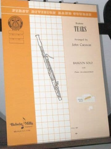 Brahms J - Tears (Nachlang) Op 59 No 4 for Bassoon & Piano arr Cacavas J
