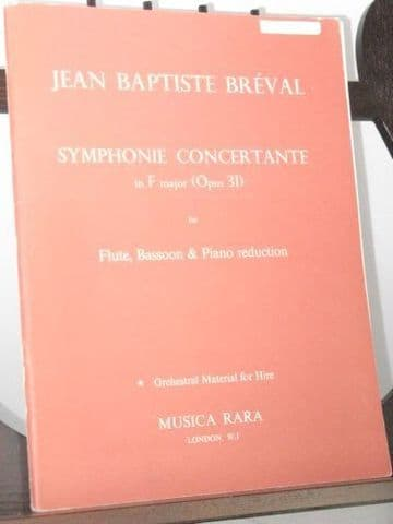 Breval J-B - Symphonie Concertante in F Op 31 arr for Flute Bassoon & Piano