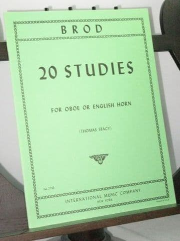 Brod H - 20 Studies for Oboe or English Horn