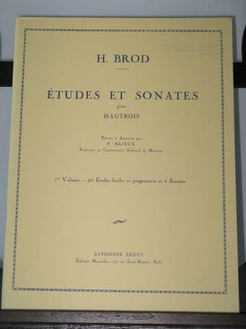 Brod H -  Etudes & Sonates for Oboe Vol 1