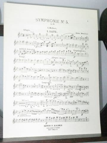 Bruckner A - Symphony No 5 Oboe 1 Part