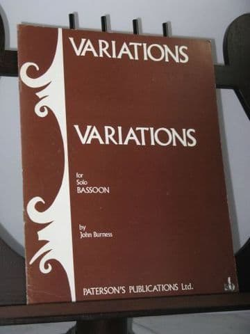 Burness J - Variations for Solo  Bassoon