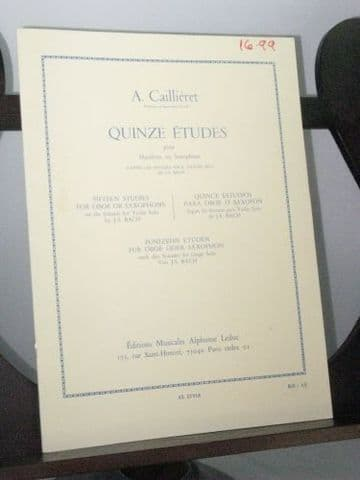 Caillieret A - 15 Studies for Oboe or Saxophone