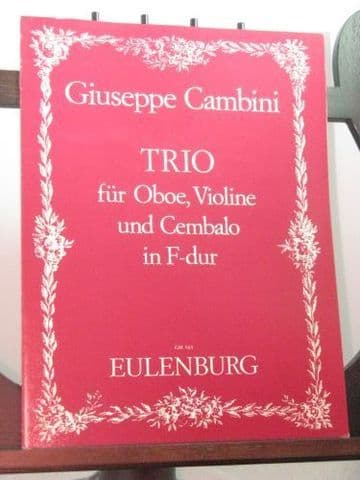 Cambini G - Trio in F for Oboe Violin & Harpsichord