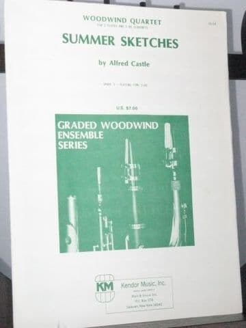 Castle A - Summer Sketches for 2 Flutes & 2 Clarinets