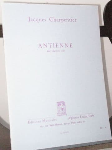 Charpentier J - Antienne for Solo Clarinet