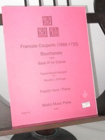 Couperin F - Bacchanale from Book IV for Clavier arr Dishinger R C