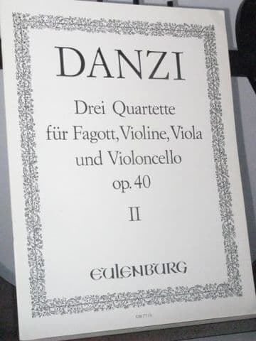 Danzi F - Quartet Op 40 No 2 for Bassoon, Violin, Viola & Cello