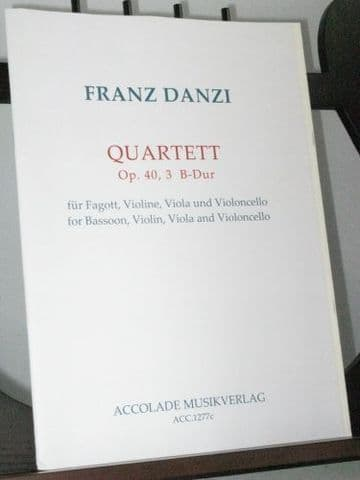 Danzi F - Quartet Op 40 No 3 in B Flat