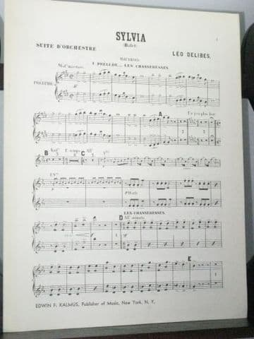 Delibes L - Sylvia Orchestral Suite Oboes 1&2 Part