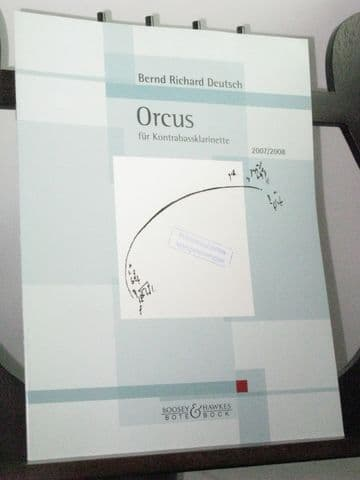 Deutsch B R - Orcus for Contra-bass Clarinet