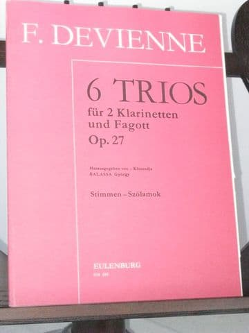 Devienne F - 6 Trios Op 27 for 2 Clarinets & Bassoon