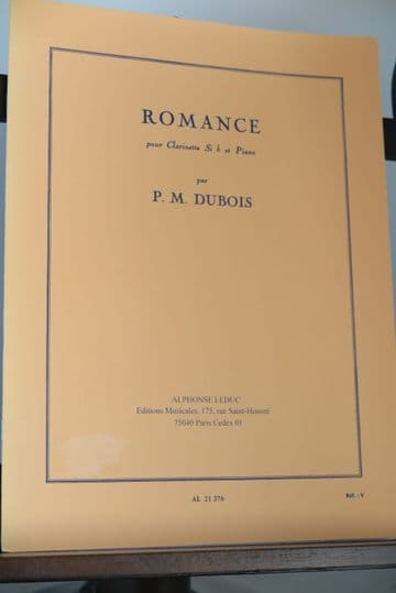 Dubois P M - Romance for Clarinet in B Flat & Piano