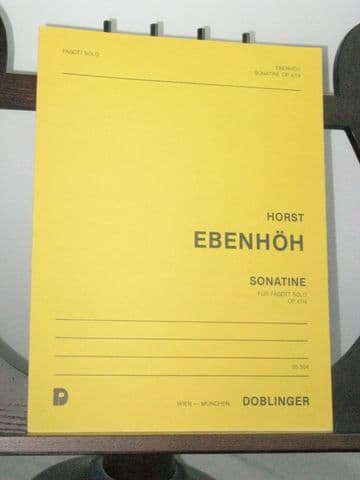 Ebenhoh H - Sonatine Op 47 No 4 for Solo Bassoon