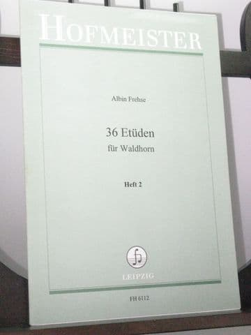 Frehse A - 36 Studies for Horn Vol 2 Nos 23-36