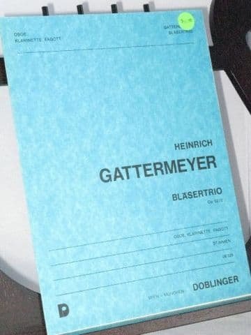 Gattermeyer H - Wind Trio Op 62 No 2