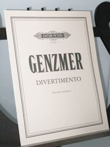 Genzmer H - Divertimento for Cello and Bassoon