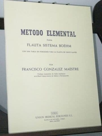 Gonzalez F - Elementary Method for the Boehm System Flute