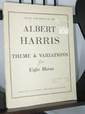 Harris A - Theme and Variations for 8 Horns