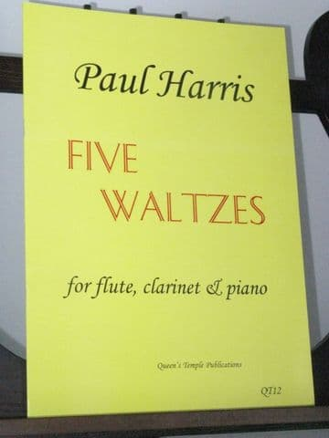 Harris P - Five Waltzes for Flute Clarinet & Piano
