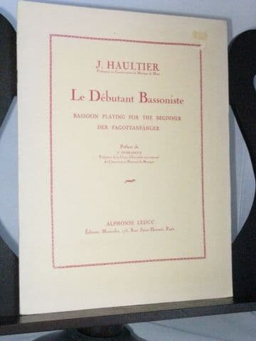 Haultier J - Bassoon Playing for the Beginner
