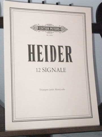 Heider W - 12 Signale for Trumpet (or Horn) Solo