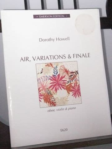 Howell D - Air Variations & Finale for Oboe Violin & Piano