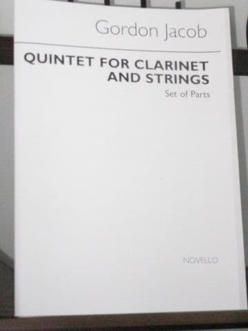 Jacob G - Quintet for Clarinet & Strings