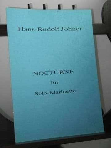 Johner H-R - Nocturne for Solo Clarinet