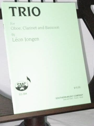 Jongen L - Trio for Oboe Clarinet & Bassoon