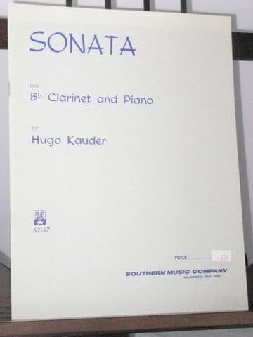 Kauder H - Sonata for Clarinet & Piano